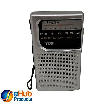 AM/FM Battery Operated Portable Pocket Radio Best Reception and Sound
