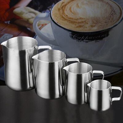 STAINLESS STEEL Milk Frothing Pitcher Latte Jug Coffee Cup Pitcher Beer Mugs Cup