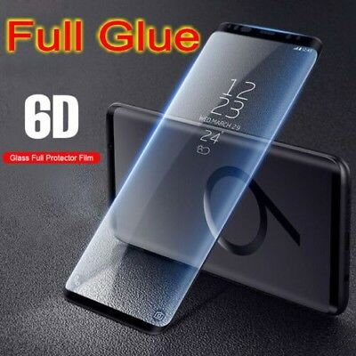 For Samsung Galaxy S8 S9Plus Note 9 Screen Protector Full Glue 6D Tempered Glass