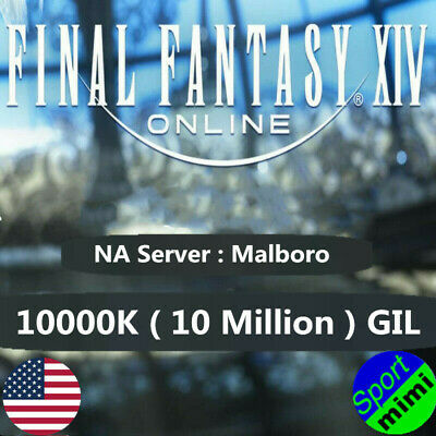 FINAL FANTASY XIV FFXIV FF14 GIL 10000K / 10 MILLION NA Server Malboro GILS