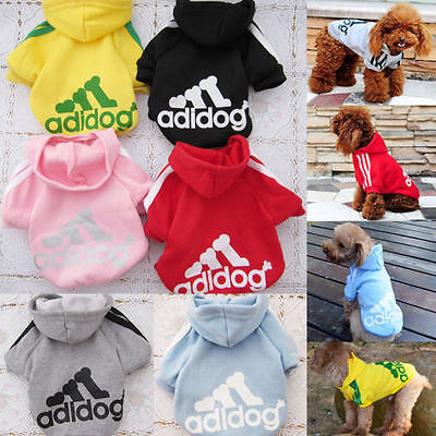 Winter Casual Adidog Pets Dog Clothes Warm Hoodie Coat Jacket Clothing For Dogs