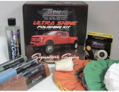 Zephyr Ultra Shine Signature Series Polishing Kit Rouge Polish Wheels