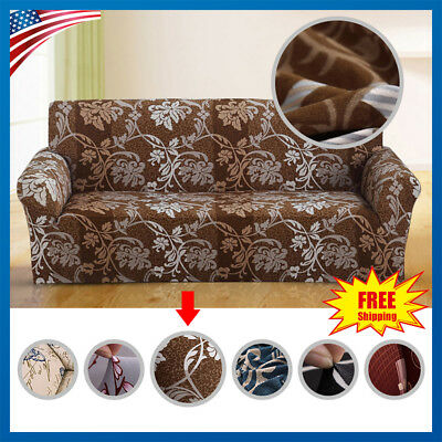 Slipcover Sofa Loveseat Chair Furniture Cover Floral Armchair Couch Covers