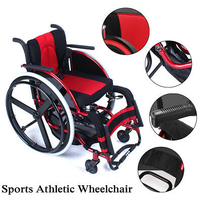 Portable Sports Athletic Wheelchair Aluminum Alloy Foldable Lightweight Trolley