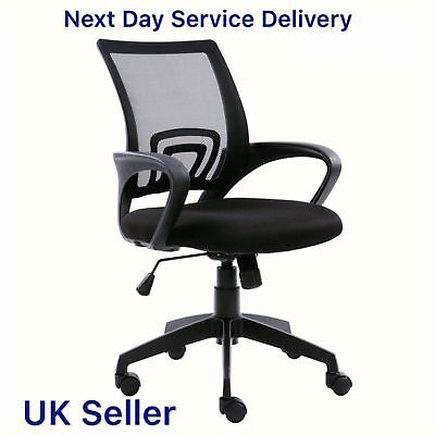 Swivel Pad Adjustable Home Computer Office Work Chair Black Furniture Rotat