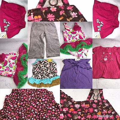 7 Pc. Lot Of Baby Girl Clothes 12 Months Nwot Bg05