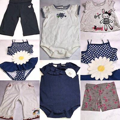 7 Pc Lot Of Baby Girl Clothes Size 3-6Months Nwot Bg16