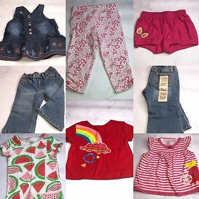 7 Pc Lot Of Baby Girl Clothes Size 12 Months Nwot Bg15
