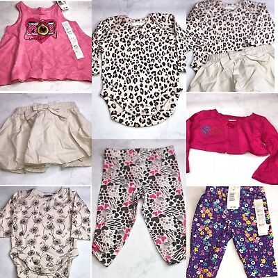 7 Pc Lot Of Baby Girl Clothes Size 6 Months Nwot Bg19
