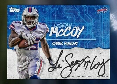 18-19 CYBER MONDAY SIGNATURE SERIES LESEAN MCCOY Topps Huddle Digital