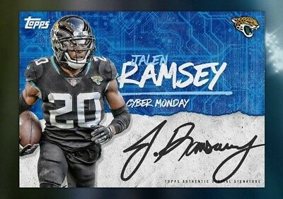 18-19 CYBER MONDAY SIGNATURE SERIES JALEN RAMSEY Topps Huddle Digital