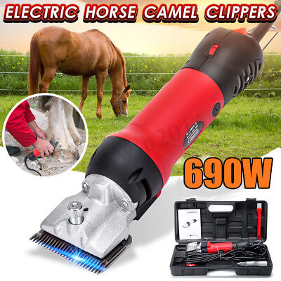6 Speed  690W Electric Horse Hair Clipper Sheep Goat Trimmer Shaver Groom Farm