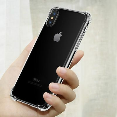 Hybrid Shockproof Clear TPU Hard Bumper Cover Case Fit For iPhone X, XR, XS Max
