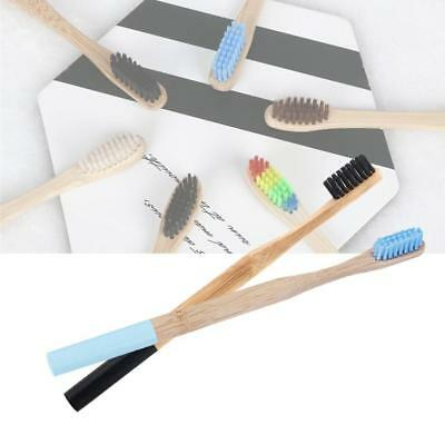 Natural Bamboo Wooden Handle Toothbrush Eco Friendly Adult Medium 3 colors