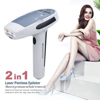 2in1 Laser IPL Permanent Hair Removal Machine Face&Body Skin Painless Uj