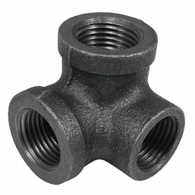 """1"""" 3Way Malleable Cast Iron Pipe Tee Fitting Side Outlet Elbow  Decor Style"""