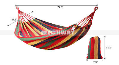 2 Person Hammock Hamac Outdoor Leisure Bed Hanging Bed Double Sleeping Bed