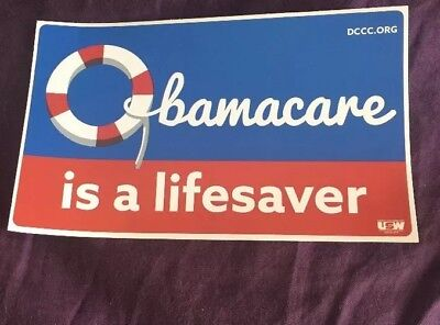 • Obamacare Is A Lifesaver • Pro Affordable Care Act Sticker United States • New