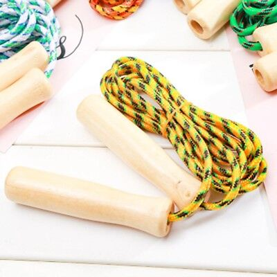Simple Wooden Handle Jump Ropes Sports Gym Fitness Equipment Skipping Ropes