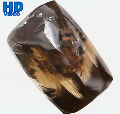 Natural Loose Diamond Brown Color Rough I1 Clarity 5.80 MM 0.85 Ct L6389