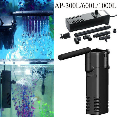 Small Internal Fish Tank Aquarium Filter Submersible with Spray Bar Included