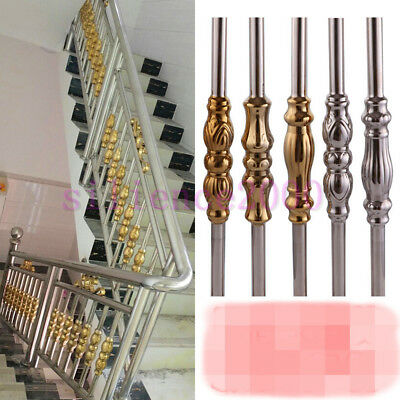 Stair / Balcony Baluster Parts - European Style 304 Stainless Steel Rod / Column