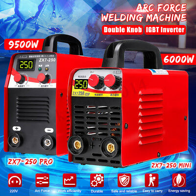 220V 6KW/9.5KW 10-250A Arc Force Electric Welding Machine LCD MMA IGBT Inverter