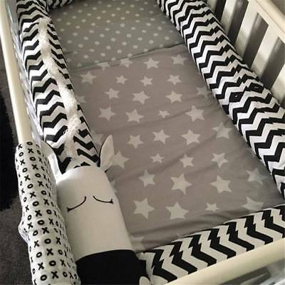 Baby Infant Plush Crib Bumper Bed Bedding Cot Soft Pillow Pad Protector Cushion