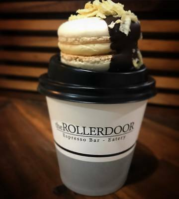 """Disposable Coffee Cup with printed """"The Rollerdoor"""" 6 oz x 1000"""