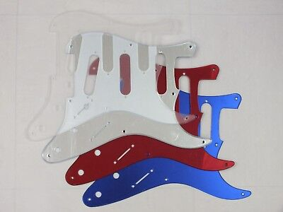 8 hole SSS SCRATCH PLATE Pickguard USA/Mex STRATOCASTER 3 Mirror & Transparent