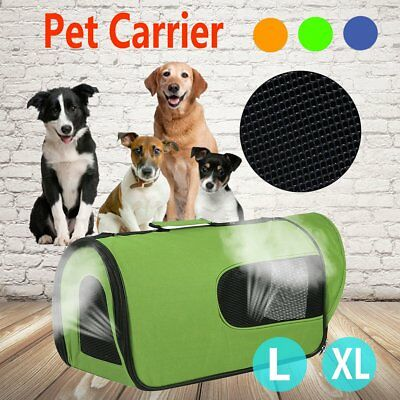 Pet Soft Crate Portable Dog Cat Carrier Travel Cage Kennel Folding Large L/XL BG