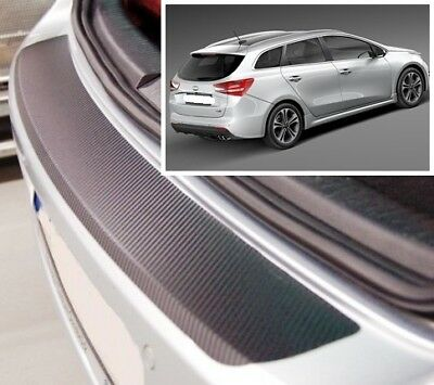 Kia Ceed SW JD - Carbon Style rear Bumper Protector