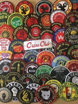 Northern Soul Patch - Selection Of Northern Soul Club Patches From £1 Bargain