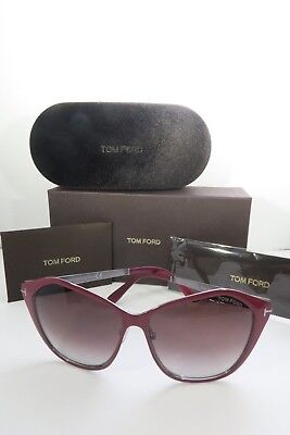 ab855af357 TOM FORD BUTTERFLY Sunglasses Lena FT TF391 FT0391 69Z Wine Red ...