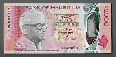 Mauritius - 2000 Rupees - 2018- Pick:# New (Polymer)