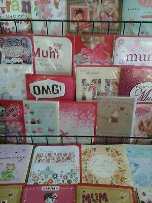 25 Mothers Day Cards, Wholesale Joblot Greeting Cards