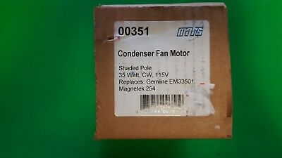 New in Sealed Factory Box Mars Condenser Fan Motor 00351  35 WATT  CW  115 V
