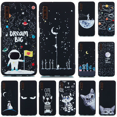 For Samsung Galaxy A7 2018 A750 Shockproof Soft Silicone Painted TPU Case Cover