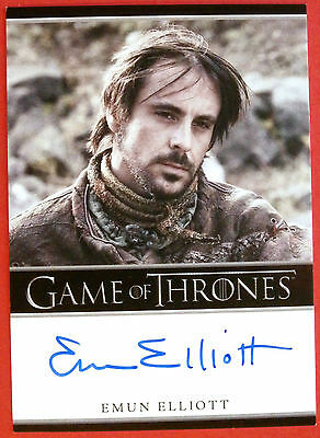GAME OF THRONES - Season 2 - EMUN ELLIOTT as Marillion - Autograph Card - 2012