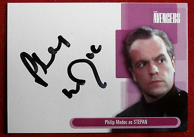 THE AVENGERS - PHILIP MADOC as Stepan - Autograph Card A11 - Strictly Ink 2003