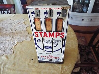 """16"""" Antique Coin Operated Stamp Machine"""
