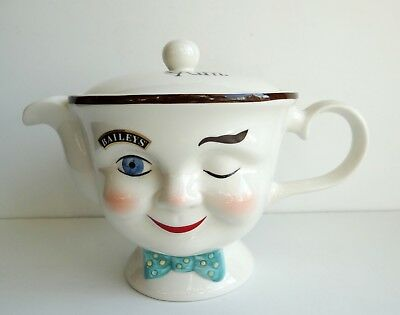 1996 Limited Edition Baileys Irish Cream Winking Teapot