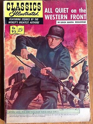 Classics Illustrated 95/HRN 96 All Quiet on the Western Front~Remarque 1952 #1ed