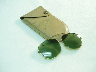 71b5ab74ba Vintage 1960 s Ray Ban Bausch   Lomb Clip on Sunglasses with Original Case