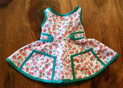 American Girl Doll Maryellen's Summer Strawberry Outfit Dress ONLY (No bloomers)