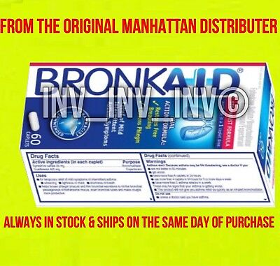 60 Bronkaid From The Manhattans Real & Original Free Same Day Shippng!!