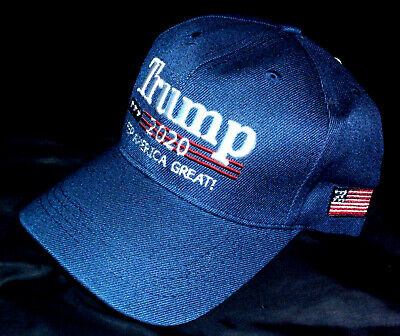 Tropic Hats Trump 2020 Keep America Great Campaign Cap #940 Navy W//RWB Thread