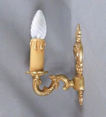 Antique French Gilt Bronze Wall Light Sconce - Louis XV Style