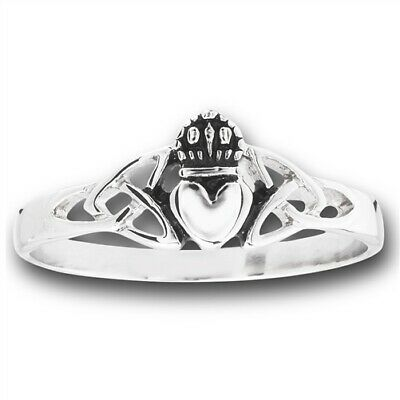 Stainless Steel Celtic Claddagh Ring - Free Gift Packaging