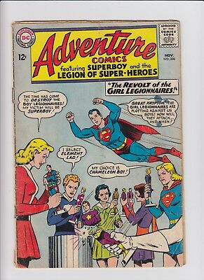 Adventure Comics Superboy Legion Of Super-Heroes 326 G/VG CHEAP 60s DC Silver